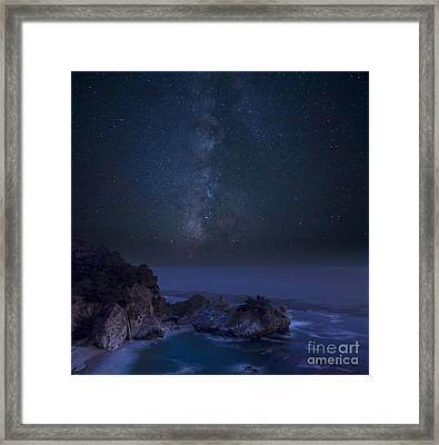 Milky Way Over Mcway Falls Framed Print by Keith Kapple