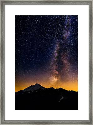 Milky Way Over Mount Baker Framed Print by Alexis Birkill