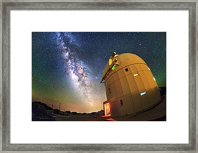 Milky Way Over Tenerife Telescope Framed Print by Juan Carlos Casado (starryearth.com)