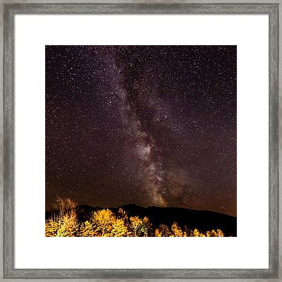 Milky Way Over The Presidentials II Framed Print by Tim Sullivan