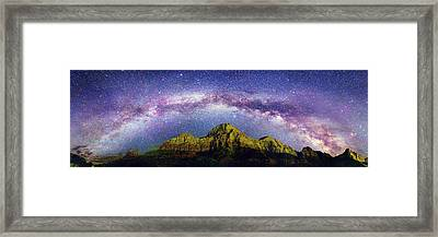 Milky Way Over Zion National Park Framed Print by Walter Pacholka, Astropics