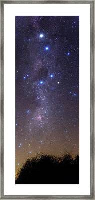 Milky Way Stars And Nebulae Framed Print by Luis Argerich