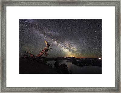 Milkyway In Crater Lake Framed Print by Yoshiki Nakamura