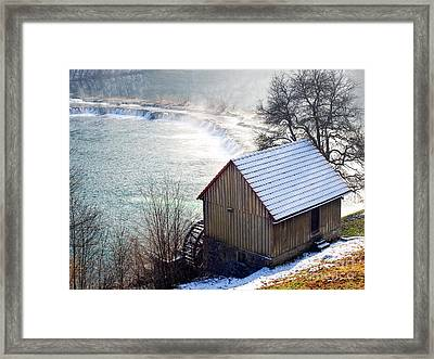 Mill And River Framed Print by Sinisa Botas