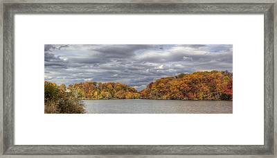 Mill Creek Park In Fall Framed Print by David Dufresne