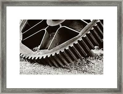 Mill Gear Framed Print by Scott Pellegrin