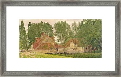 Mill On The Thames At Mapledurham, 1860 Framed Print by George Price Boyce