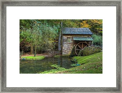 Mill Pond In Woods Framed Print by William Jobes