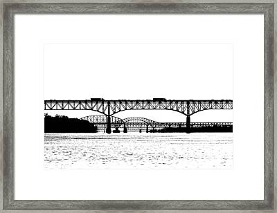 Millard Tydings Memorial Bridge Framed Print by William Jobes