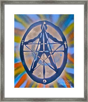 Millenium Man 2 Framed Print by Tony B Conscious