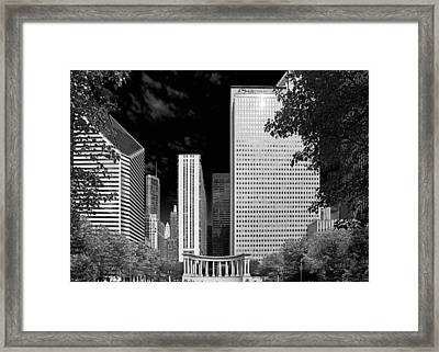 Millennium Park Monument - The Colonnade - Wrigley Square Chicago Framed Print by Christine Till