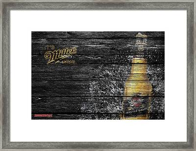 Miller Beer Framed Print by Joe Hamilton