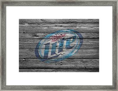 Miller Lite Framed Print by Joe Hamilton