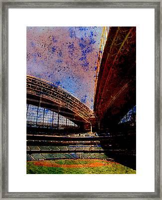 Miller Park 2 W Paint Framed Print by Anita Burgermeister