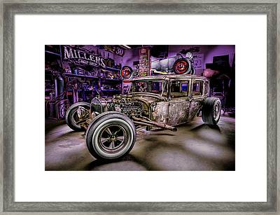 Millers Chop Shop 1929 Ford Murray Framed Print by Yo Pedro