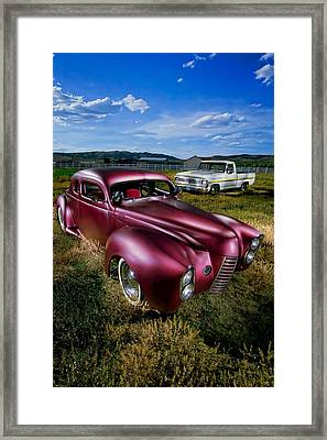 Millers Chop Shop 1940 Ford Coupe Framed Print by YoPedro