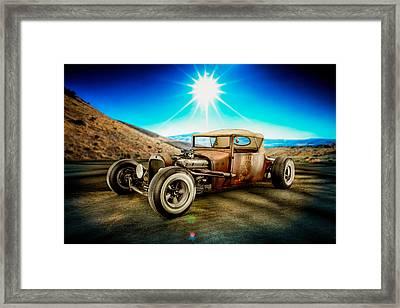 Millers Chop Shop 23 Dodge Turtle Back Framed Print by Yo Pedro