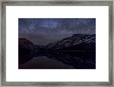 Millky Way Over Tenaya Lake Framed Print by Cat Connor