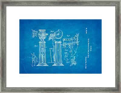 Mills Goodyear Sole Shoe Sewing Machine Patent Art 1869 Blueprint Framed Print by Ian Monk