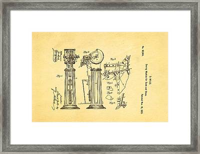 Mills Goodyear Sole Shoe Sewing Machine Patent Art 1869 Framed Print by Ian Monk