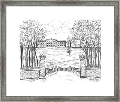 Mills Mansion Staatsburg Framed Print by Richard Wambach