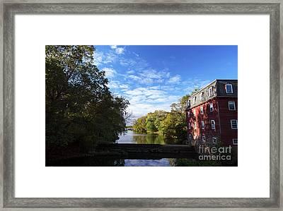 Millstone River View Framed Print by John Rizzuto