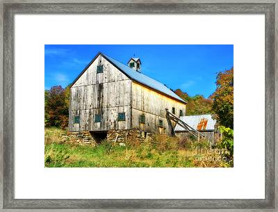 Milton Barn In Orton Framed Print by Deborah Benoit