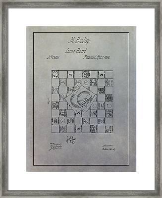 Milton Bradley Life Game Patent Framed Print by Dan Sproul