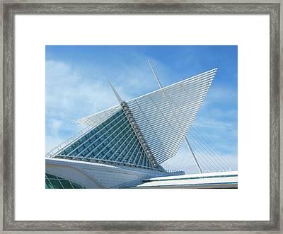 Milwaukee Art Museum Framed Print by Ann Horn