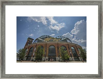 Milwaukee Brewers Miller Park 4 Framed Print by David Haskett