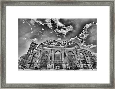 Milwaukee Brewers Miller Park 7 Framed Print by David Haskett