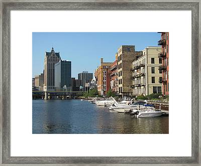 Milwaukee River Architecture 2 Framed Print by Anita Burgermeister