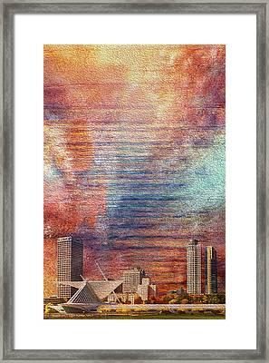 Milwaukee Skyline Framed Print by Jack Zulli