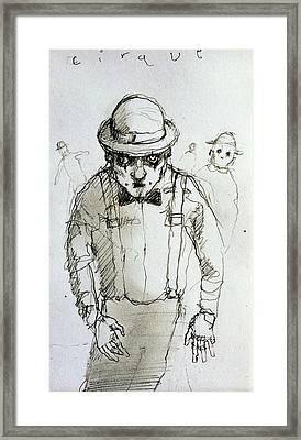 Mime Framed Print by H James Hoff