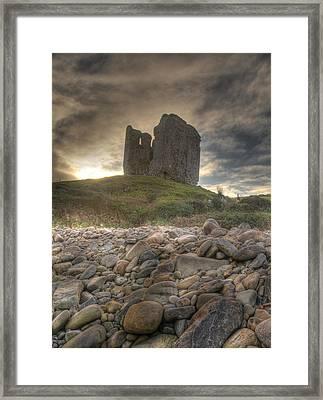 Minard Castle Framed Print by Gearoid Casey