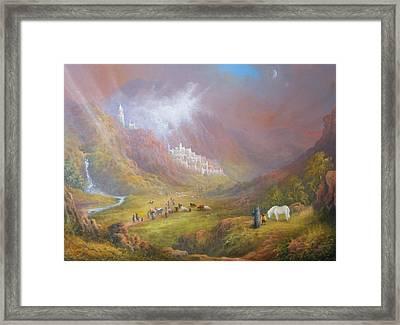 Minas Tirith  War Approaches. Framed Print by Joe  Gilronan