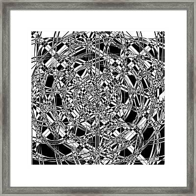 B W Sq 7 Framed Print by Mike McGlothlen
