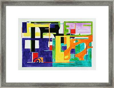 Mindscape II Framed Print by Xueling Zou