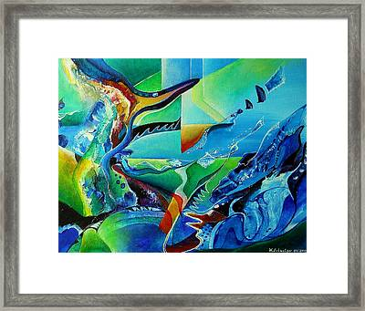 mindscape no.2-Improvisation Saxophone and Piano Framed Print by Wolfgang Schweizer