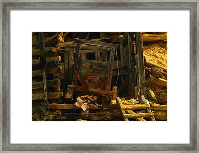 Mine Entrace Framed Print by Jeff Swan