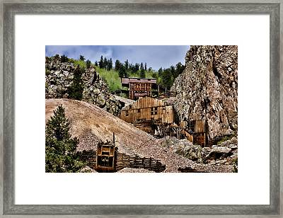 Mine On The Mountain Framed Print by Lana Trussell
