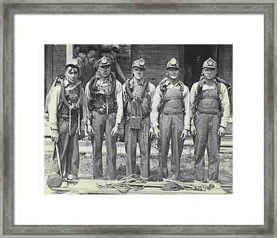Mine Rescue Team Framed Print by Retro Images Archive