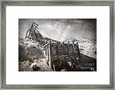 Mine Structure In Silver City Framed Print by Dianne Phelps