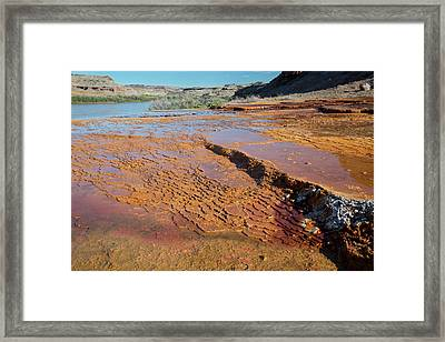 Mineral Terraces At Crystal Geyser Framed Print by Jim West