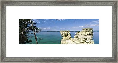 Miners Castle, Pictured Rocks National Framed Print by Panoramic Images