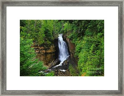 Miners Falls  2 Framed Print by Rachel Cohen