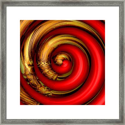 Mingle - Red Framed Print by Wendy J St Christopher
