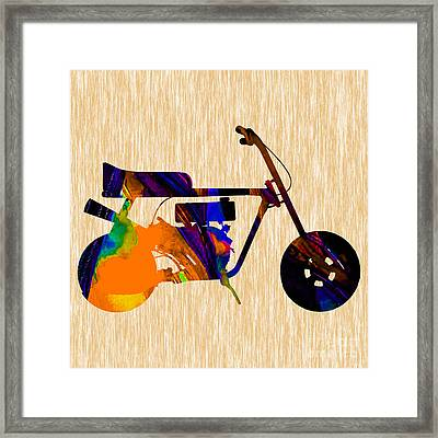 Mini Bike Framed Print by Marvin Blaine