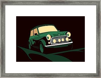 Mini Cooper Green Framed Print by Michael Tompsett