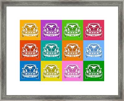 Mini Cooper Squares Framed Print by Michael Tompsett